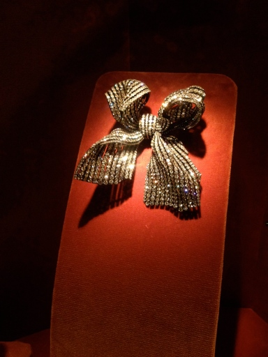 Bow by JAR. Made of diamonds. On view at the MET museum.