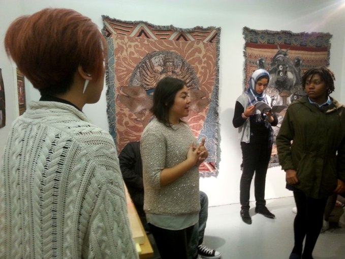 ... for the Arts showing her textile work and the meanings behind them