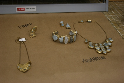 Examples of jewelry she has created.