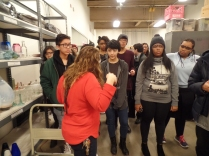 Giving us a tour of UrbanGlass