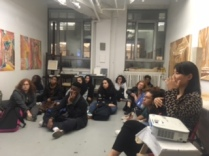 Art Ready 2017-18 Mentees Visiting Heejung Cho's Studio